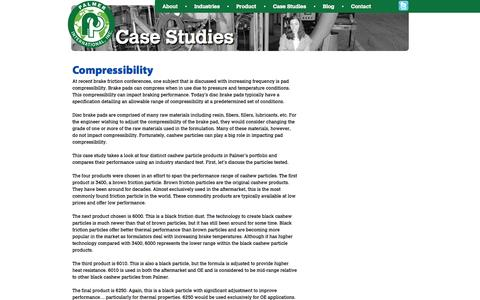 Screenshot of Case Studies Page palmerint.com - Case Studies Palmer International - captured Oct. 1, 2014