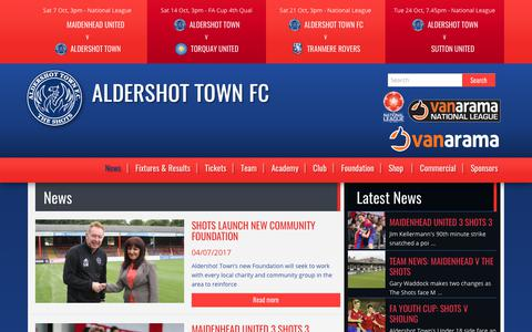 Screenshot of Press Page theshots.co.uk - News | Aldershot Town FC - captured Oct. 7, 2017