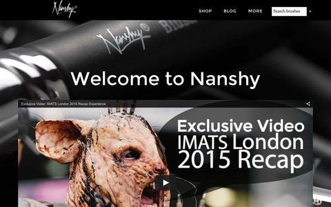 Screenshot of Home Page nanshy.com - NANSHY Makeup Brushes & Beauty Tools « - captured Sept. 5, 2015