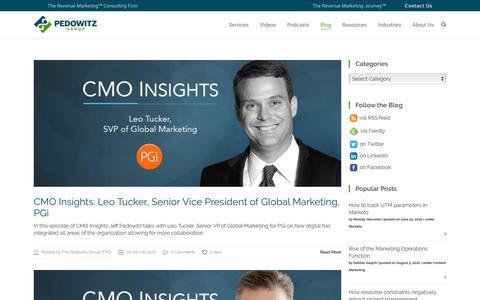 Revenue Marketing Blog – The Pedowitz Group