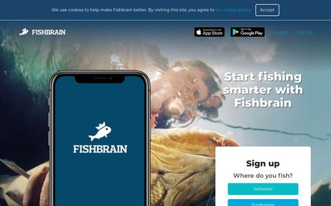 Screenshot of Home Page fishbrain.com - Fishbrain - captured March 17, 2019