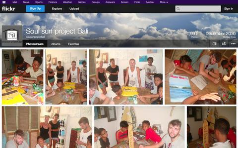 Screenshot of Flickr Page flickr.com - Flickr: soulsurfprojectbali's Photostream - captured Oct. 22, 2014