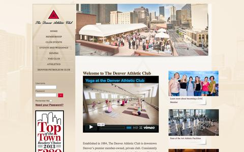 Screenshot of Home Page Contact Page Maps & Directions Page denverathleticclub.cc - Home - Denver Athletic Club - captured Oct. 6, 2014