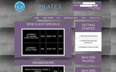 Screenshot of Pricing Page spnpilates.com - Pricing List - SPN Pilates - captured Aug. 2, 2015