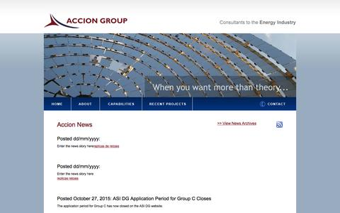 Screenshot of Press Page acciongroup.com - Accion News - Accion Group, LLC   Consultants to the Energy Industry - captured Dec. 23, 2015