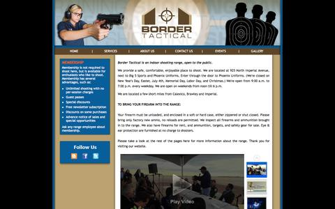 Screenshot of Home Page bordertactical.com - Border Tactical Website - captured Oct. 5, 2014