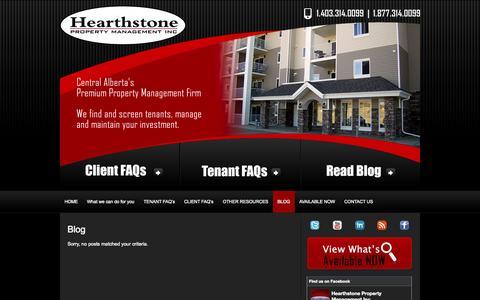 Screenshot of Blog hpman.ca - Hearthstone Property Management » Blog - captured Oct. 2, 2014