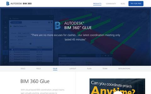 Screenshot of Products Page autodesk.com - BIM 360 Glue | Autodesk BIM 360 - captured May 1, 2017