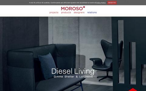 Screenshot of Home Page moroso.it - The beauty of design :Moroso - captured Oct. 16, 2015