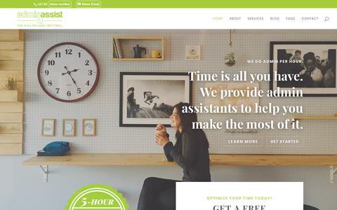 Screenshot of Home Page adminassist.co.za - AdminAssist | Virtual Assistants in Pretoria & Johannesburg, South Africa - AdminAssist - captured Oct. 3, 2018