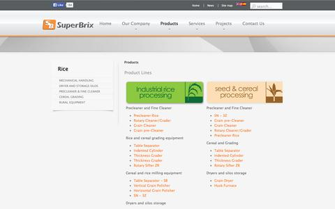 Screenshot of Products Page superbrix.com - Superbrix - Products - captured Oct. 7, 2014