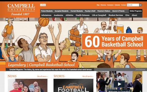 Screenshot of Home Page campbell.edu - Home - Campbell University - captured Oct. 1, 2015