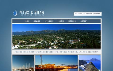 Screenshot of Contact Page petersmilam.com - Peters & Milam Insurance Services - Contact-Santa-Barbara-Health-Insurance - captured Nov. 1, 2014