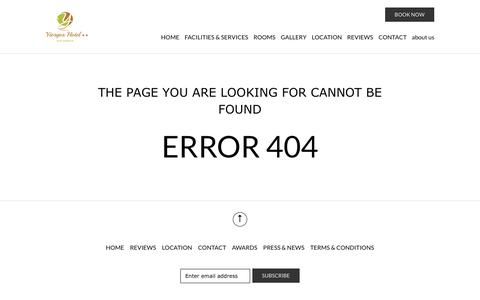 Screenshot of About Page yiorgoshotel.com - Error Page - captured Oct. 22, 2018
