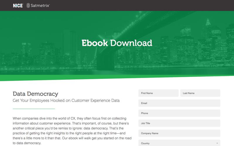 Satmetrix Ebook: Data Democracy