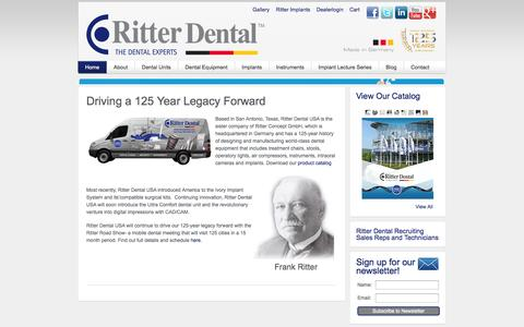 Screenshot of Blog About Page Privacy Page Contact Page Jobs Page Login Page ritterdentalusa.com - Ritter Dental USA - Ritter Dental - captured Oct. 12, 2014