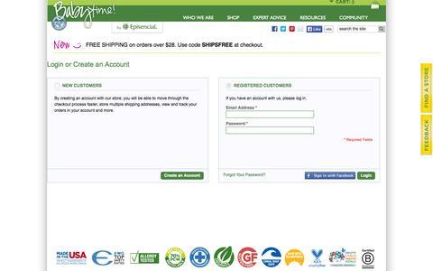 Screenshot of Login Page episencial.com - Customer Login - captured Nov. 5, 2014