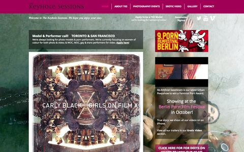Screenshot of Home Page thekeyholesessions.com - The Keyhole Sessions - captured Oct. 7, 2014