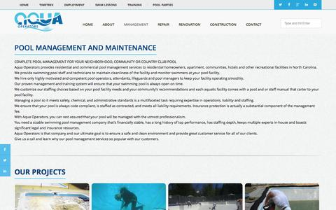 Screenshot of Team Page aquaoperators.com - Management - captured Oct. 29, 2014