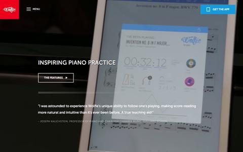 Screenshot of Maps & Directions Page tonara.com - Wolfie for piano app - Tonara and Wolfie for Piano - captured Feb. 9, 2016