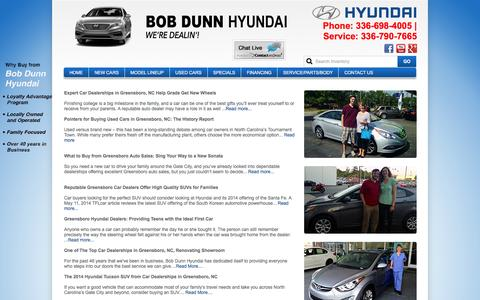 Screenshot of Blog bobdunnhyundai.com - Bob Dunn Hyundai wants to get you in a new or used car today! - captured Jan. 6, 2016