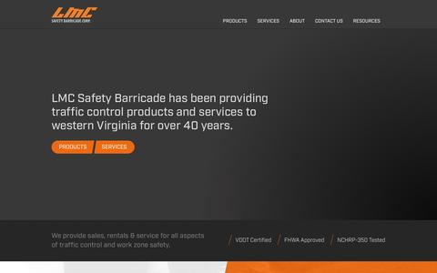 Screenshot of Home Page lmcsafety.com - LMC | Traffic Control, Work Zone Safety, Flagging, Signs, Cones - captured Oct. 12, 2016