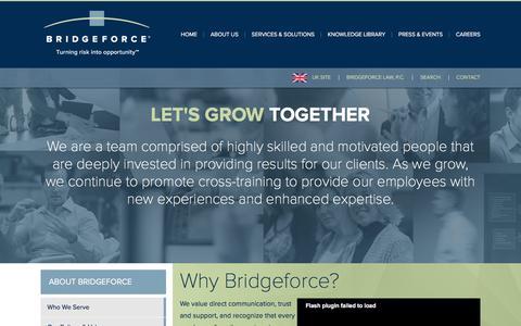 Screenshot of Jobs Page bridgeforce.com - Careers: Bridgeforce | Global Advising Firm - captured Jan. 7, 2016