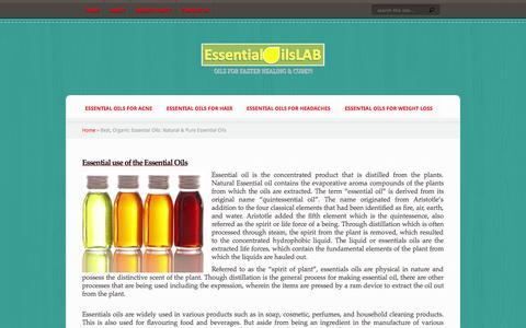 Screenshot of Home Page essentialoilslab.com - Best, Organic Essential Oils: Natural & Pure Essential Oils - captured Sept. 19, 2014