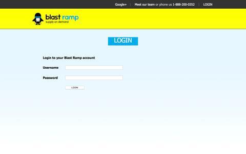 Screenshot of Login Page blastramp.com - blast ramp ~ supply on demand - captured Dec. 4, 2015