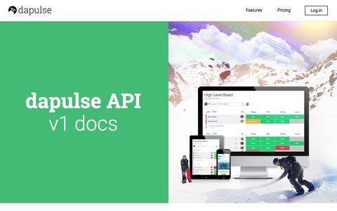 Screenshot of Developers Page dapulse.com - dapulse - The Intuitive Management Tool - Developers - captured Nov. 14, 2015
