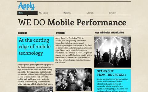 Screenshot of Home Page apply-tech.com - apply-tech - captured Oct. 4, 2014