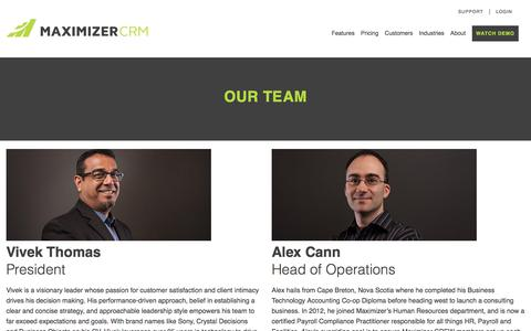 Our Team - Maximizer CRM