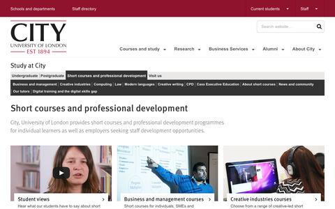 Short Courses & Professional Development | City, University of London