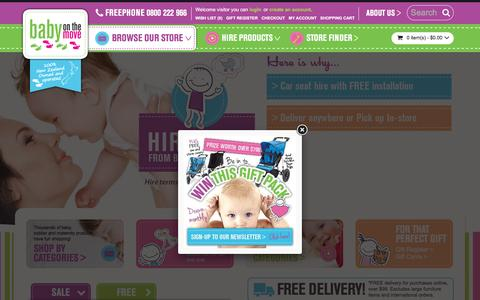 Screenshot of Home Page babyonthemove.co.nz - Baby On The Move - captured July 27, 2016