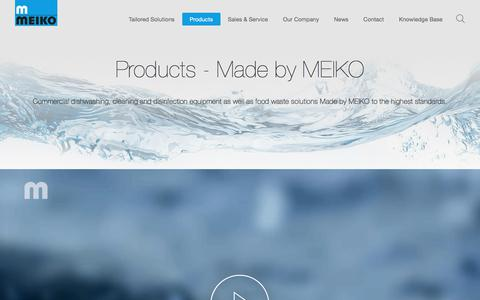 Screenshot of Products Page meiko.us - Commercial dishwashing, Bedpan washers, Disinfection Technology - MEIKO - captured July 26, 2018