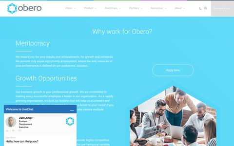 Screenshot of Jobs Page oberospm.com - Careers - Obero SPM - captured Aug. 21, 2017