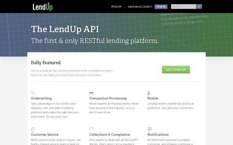 Screenshot of Developers Page lendup.com - Developers - LendUp - captured July 21, 2014