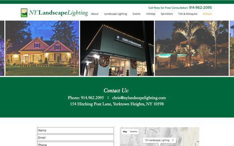 Screenshot of Contact Page nylandscapelighting.com - NY Landscape Lighting | Westchester, NY - captured Nov. 13, 2017