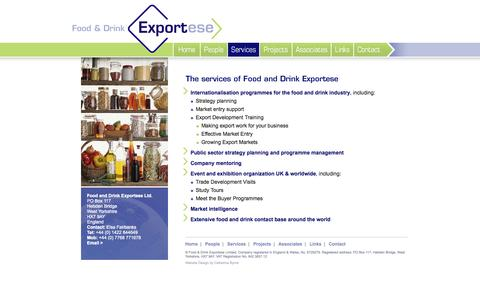 Screenshot of Services Page foodanddrinkexportese.co.uk - Services by Food and Drinks Exportese - captured Oct. 6, 2014