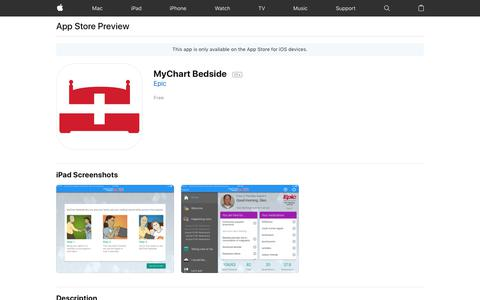MyChart Bedside on the App Store