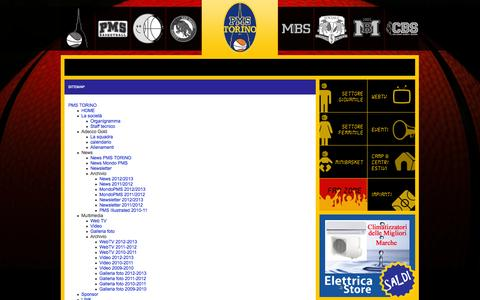 Screenshot of Site Map Page pmsbasketball.com - Sitemap - captured Oct. 1, 2014