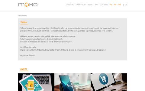 Screenshot of Team Page moko.it - Mobile App per smartphone e tablet - Web agency - Milano, Reggio, Roma, Torino - captured Nov. 19, 2018