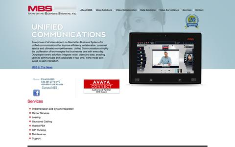 Screenshot of Services Page mbsnetworks.com - Services - Manhattan Business Systems, Inc. - captured Oct. 4, 2014