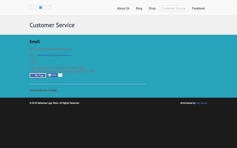 Screenshot of Contact Page bahamaslogostore.com - Customer Service   Bahamas Logo Store - captured Feb. 11, 2016