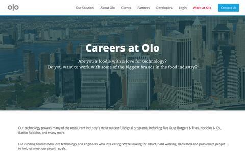 Screenshot of Jobs Page olo.com - Careers | Olo - captured Dec. 4, 2015