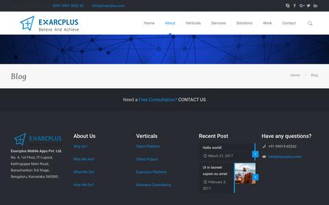 Blog – Exarcplus Mobile Apps Pvt Ltd.