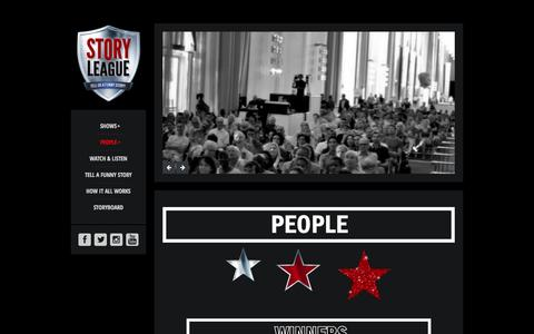 Screenshot of Team Page storyleague.org - PEOPLE Story League - captured Oct. 7, 2014