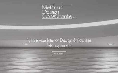 Screenshot of Home Page mdcinc.com - Metford Design Consultants Inc. - captured Feb. 13, 2016