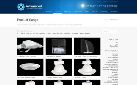 Screenshot of Products Page adlt.com.au - Product Range | Advanced Lighting Technologies - captured Oct. 4, 2014