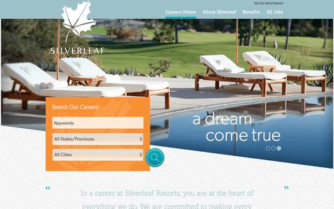 Screenshot of Jobs Page silverleafresorts.com - Careers at Silverleaf Resorts | Careers at Silverleaf Resorts - captured June 4, 2016
